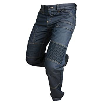 Overlap Jeans de Moto Road, Queroseno Azul Oscuro, 38