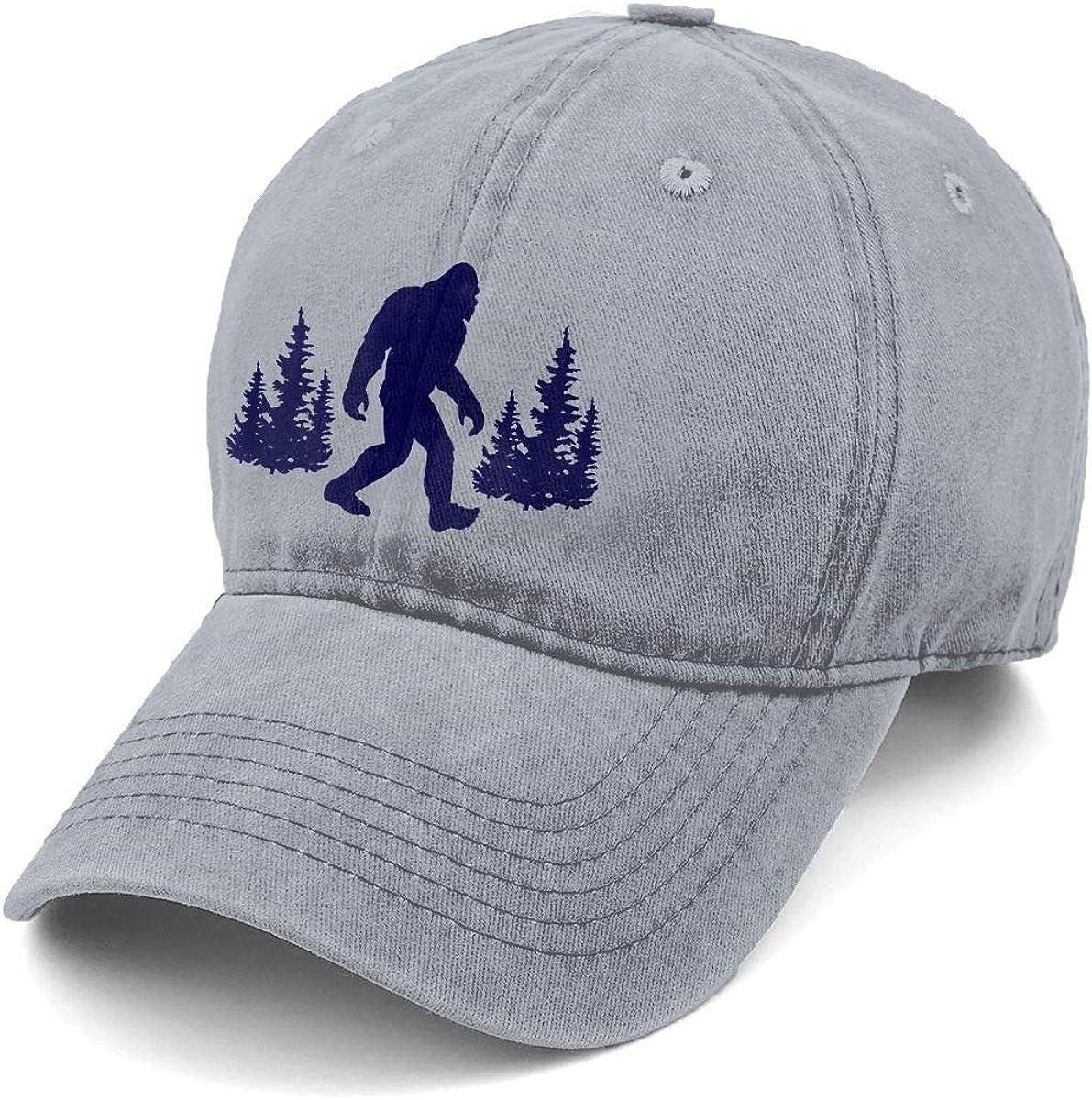 Unisex UFO Bigfoot Denim Hat Adjustable Washed Dyed Cotton Dad Baseball Caps