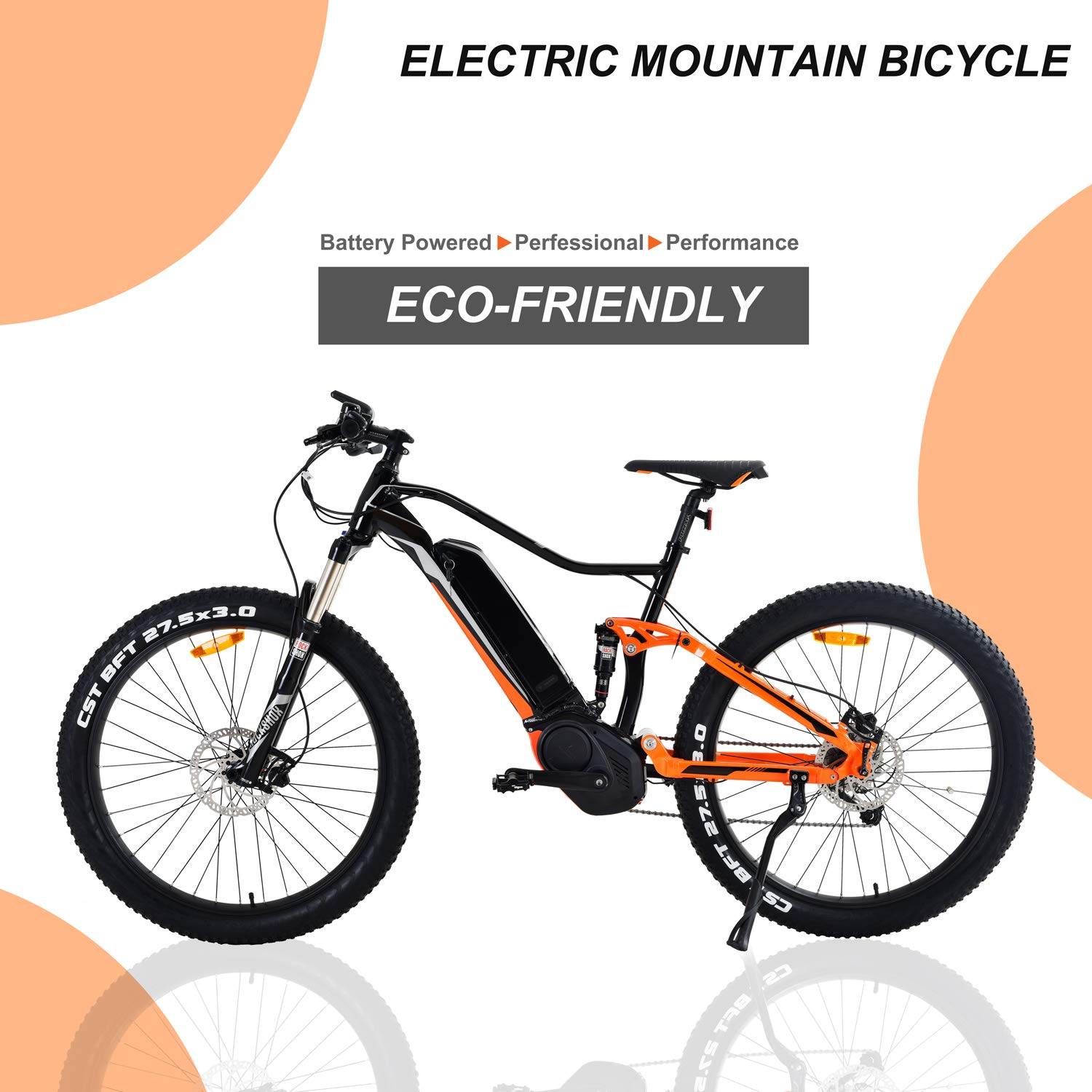 Jassol Electric Bicycle Adult Size Motor Bike Lithium Battery