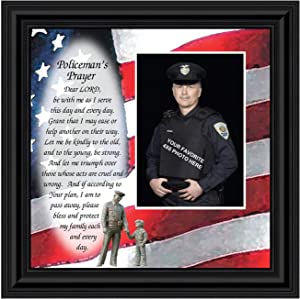 Police Officer Gifts, Law Enforcement Gifts, Police Gifts for Men, Gifts for Cops, First Responders, Sheriff, Deputy or State Police, Picture Framed Wall Art for The Home or Police Station, 6794B