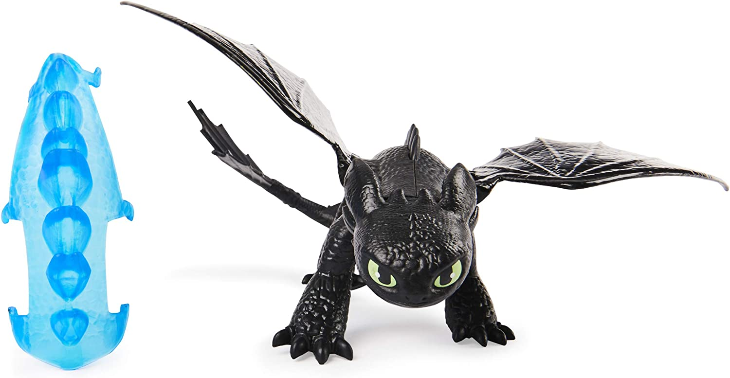 2020 TOOTHLESS Figure How To Train Your Dragon Legends Evolved Night Fury