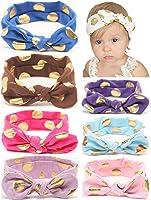 Baby Headbands Girl's Turban Headwrap, QandSweet Toddler Hairbands