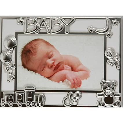 Amazon.com - Adorable BABY MOON silverplate 4x6 frame by Dennis ...