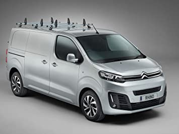 07-16 Van Demon Rhino Delta 3 Bar Roof Bars and Rear Steel Ladder Roller System for Citroen Dispatch