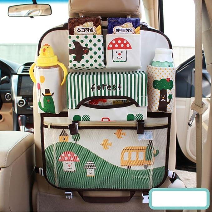 Teepao - Organizador infantil para el respaldo de asiento de coche, ideal para guardar accesorios de bebés y juguetes de niños pequeños durante el viaje, ...