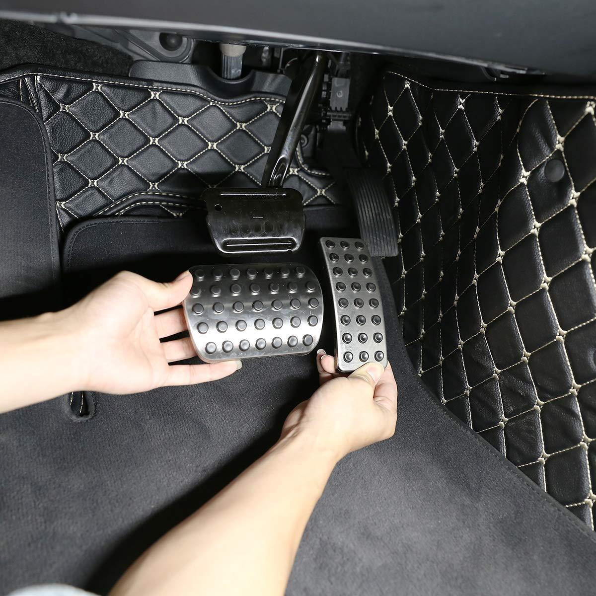 2 pedales de freno de combustible de acero inoxidable para coches clase A W176 B-CLass W246 CLA C117 GLS GLE W166 ML R Class W251