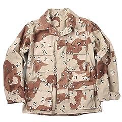 U.S. Armed Force BDU Jacket: Six-Color Desert Camo