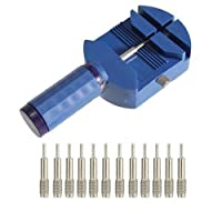 Beito Blue Watch Band Link Pin Remover Strap Adjuster Opener Repair Watch Maker Tool with 12 Pin