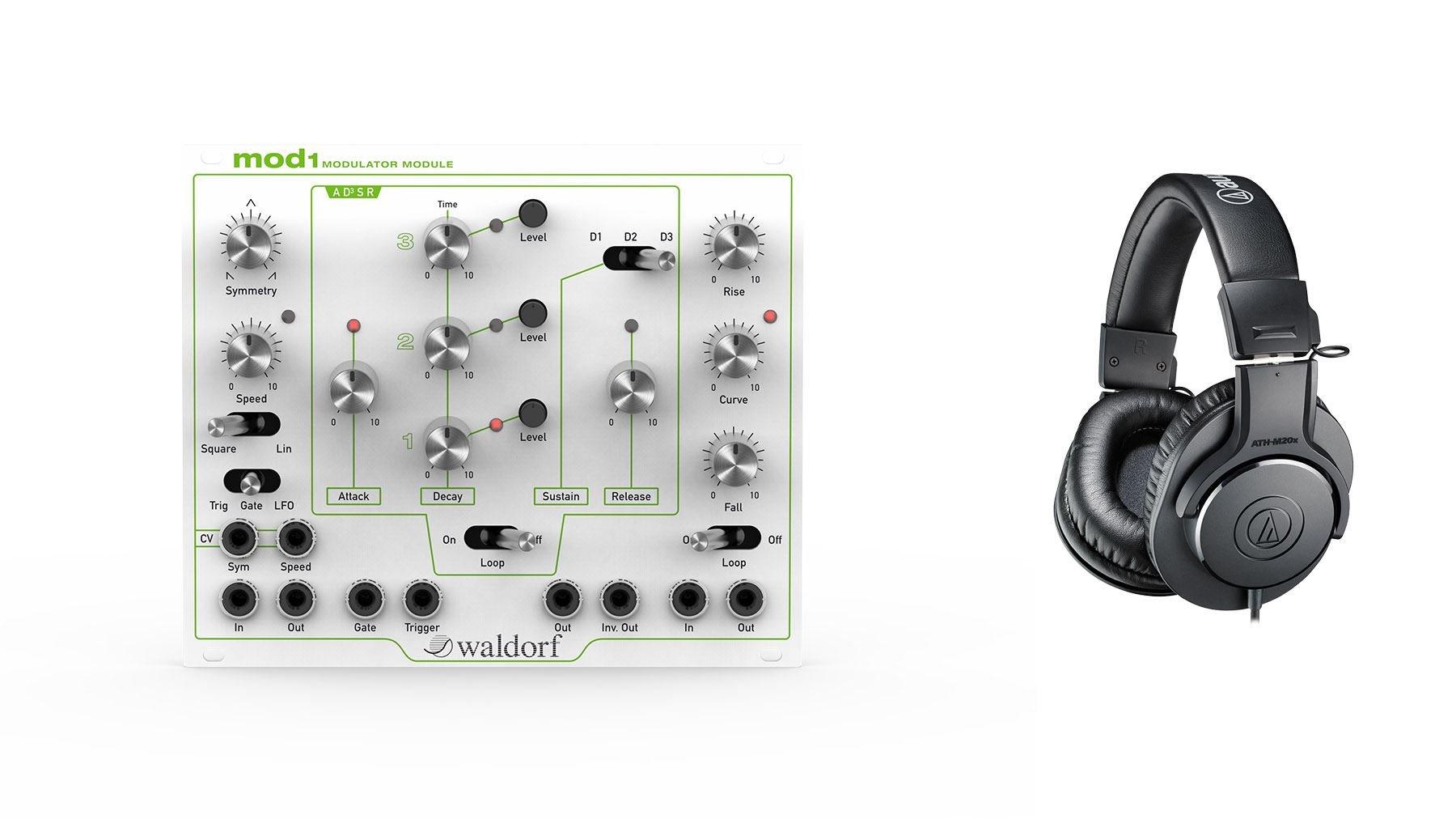 Waldorf MOD1 Eurorack Modulator Bundle with Audio-Technica ATH-M20x Headphones (2 Items) by Waldorf (Image #1)