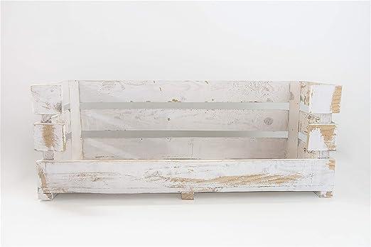 Caja Abierta Grande Blanca Vintage Sam, Caja Grande con Apertura ...