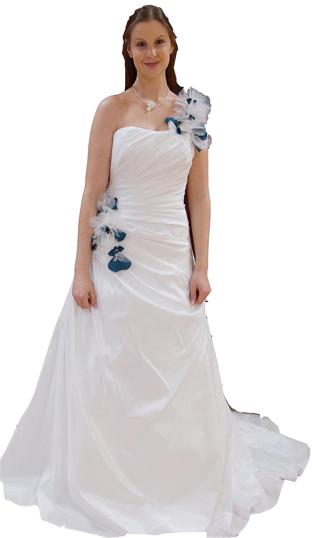 Brautkleid (LKBlütenträger) aus Taft, schlichter schmaler Schnitt ...