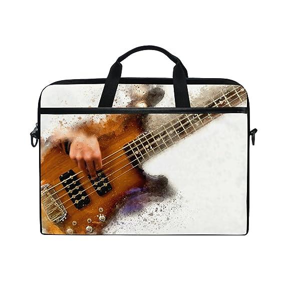 JSTEL Abstract - Funda para guitarra eléctrica, portátil, bandolera, para portátil de 14 a 15,6 pulgadas, con correa ajustable para el hombro: Amazon.es: ...