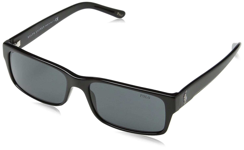 Polo Ralph Lauren Herren Sonnenbrille PH4049, Schwarz (Black 500187), One size (Herstellergröße: 57)