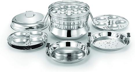 Stainless Steel Induction Base Idli Maker Cooker Dhokla Dumpling Steamer 14 Idli