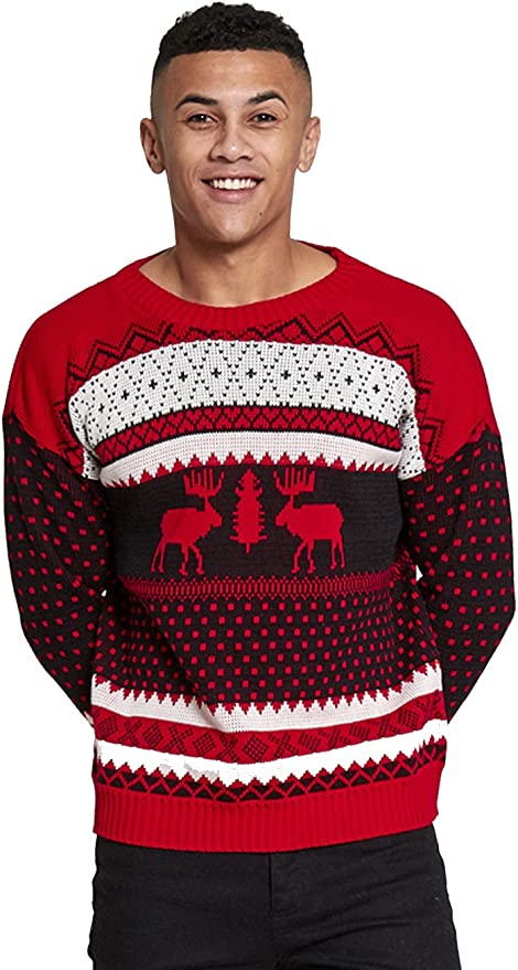Hombres novedad de Navidad de punto jersey de reno Jersey (jmj-0005)