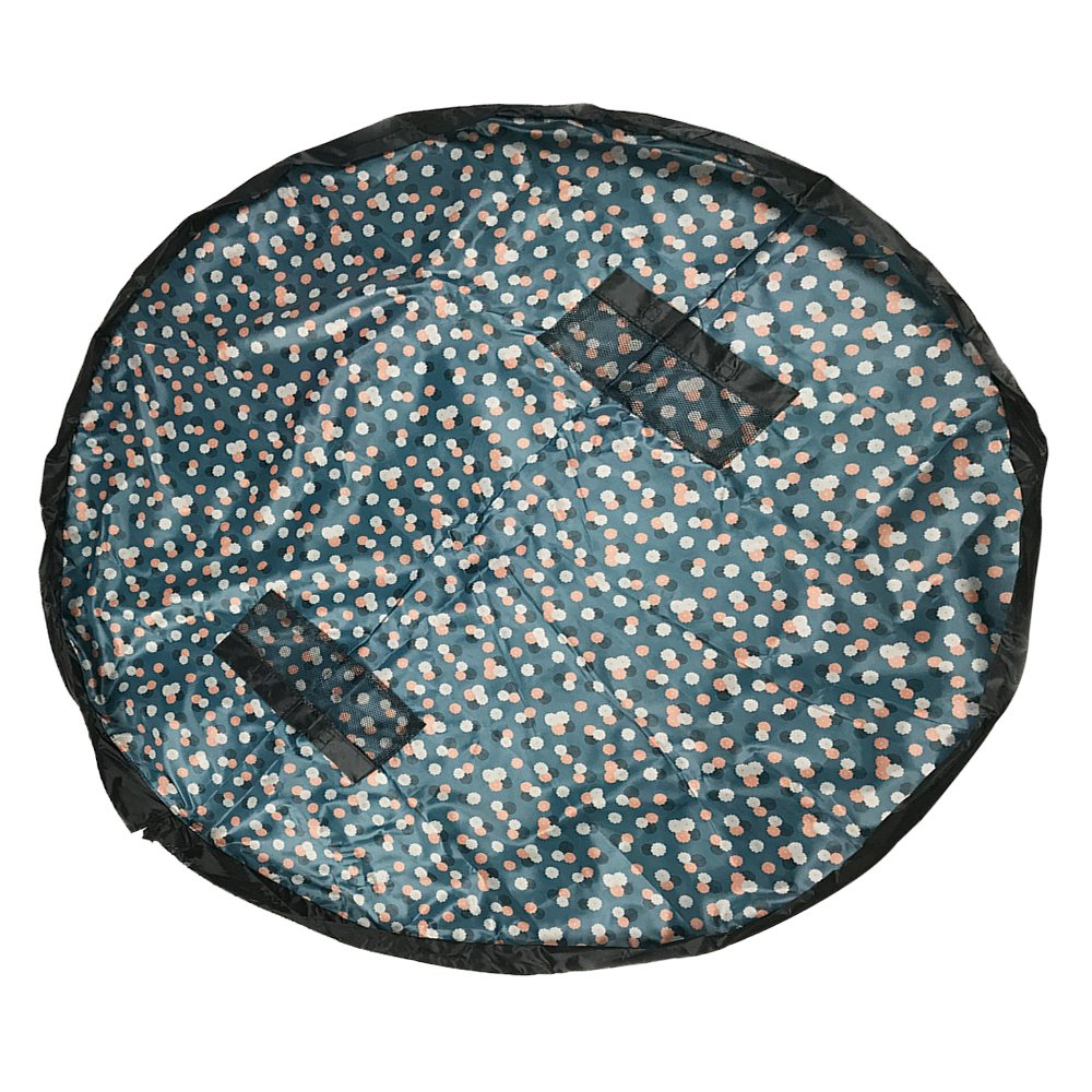 ZOND's Easy Clean-Up 5ft Play and Storage Mat for Children (5ft, Blue and Dots) a1
