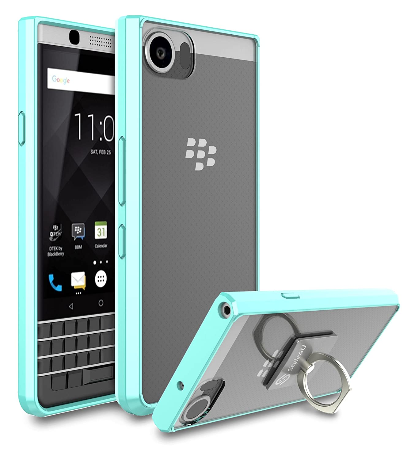 Amazon.com: BlackBerry KEYone Case, BlackBerry DTEK70 / Mercury Case,  Style4U Scratch Resistant Shock Absorbent Ultra Slim Crystal Clear PC Back  TPU Bumper ...
