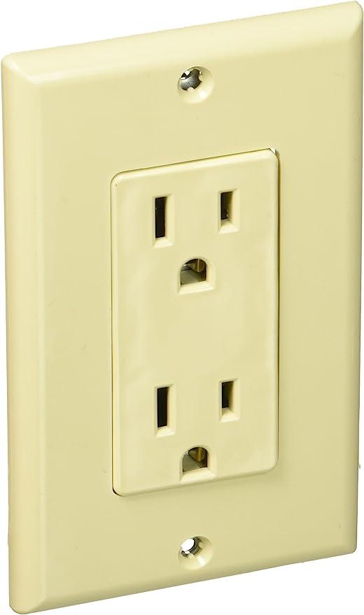 Leviton Decora Duplex Receptacle Outlet Plate 15 Amp