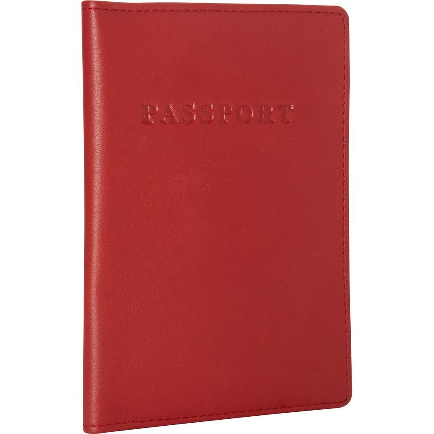 Royce Leather Passport Holder and Travel Document Organizer in Leather, Red 2