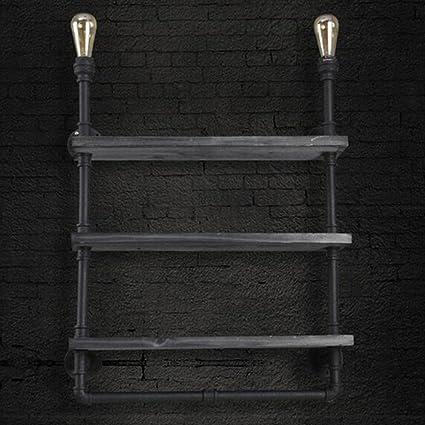 JY Hierro arte Shelf, creativo Retro Pipa, corredor, lámpara ...