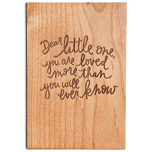 Amazon com: Dear Little One Laser Cut Wood Greeting Card