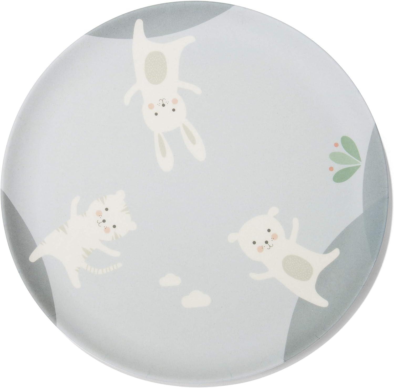 Dishwasher-Safe blue Made from Bamboo Melamine 3 Friends 100 /% Food-Safe Lalavi Childrens Crockery