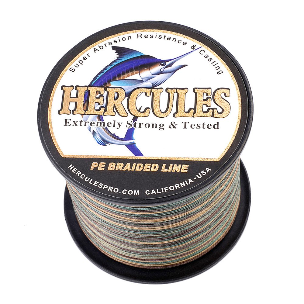 HERCULES Fishing Line Braided 2000m 2187yards 6lb to100lb 4 Strands 15 Colors