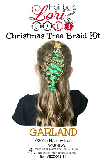 Amazon Com Hair By Lori Ezdo Christmas Tree Braid Kit Garland