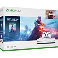 Microsoft Xbox One S 1TB Hard Drive Console (4K Ultra HD Blu-ray) with Wireless Controller and Game Bundle | Choose Battlefield V Bundle