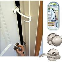 DOOR MONKEY Door Lock & Pinch Guard - Safety Door Lock For Kids - Baby Proof Door Lock For Bedrooms, Bathrooms…