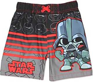 Disney Star Wars Boys Swim Trunks Swimwear (4T, Black)