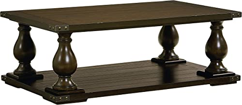 Standard Furniture Pierwood Coffee Table, 54 W x 32 D x 20 H, Brown