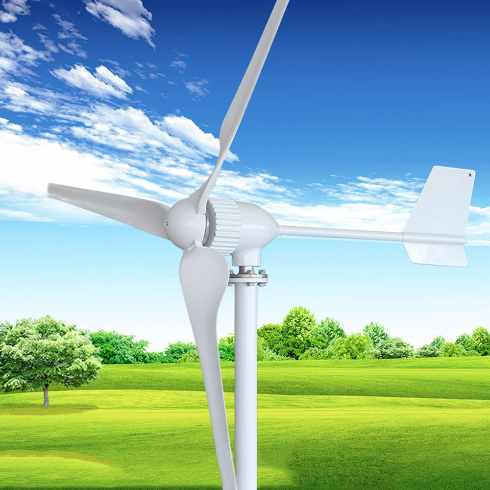 HUKOER Wind Turbine Generator Waterproof Wind Controller 24V/48V 800w/1000w 3 Blades Low Wind Speed Starting Top Rated NSK Bearings Garden Street Lights Wind Turbines by HUKOER (Image #8)