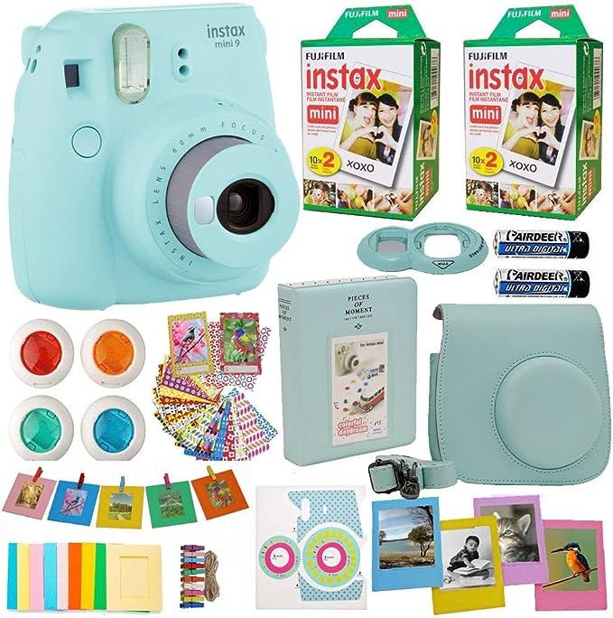 Fujifilm Instax Mini 8 Cámara instantánea hielo azul + 2 x Fuji ...