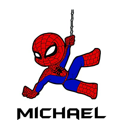Custom Names Personalized Name Spider Man Super Hero Marvel Disney Wall Decals for Kids Bedroom/Boys Wall Decor Vinyl Sticker Art/Cartoon Characters TV Shows Comic Web Size 20x20 inch: Home & Kitchen