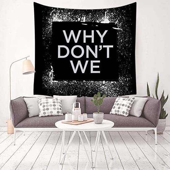 QOWMSA 3D Print Why D-on t W-e Poster Tapestry, Wall Hanging Bedding Decor Tapestries Living Room Dorm Bedroom Home Decorations
