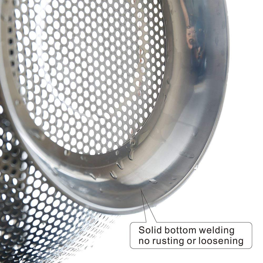 ZESPROKA Stainless Steel Micro-perforated 5-Quart Colander Strainer - With Solid Handles and Stable Draining Ring Base - Ideal for Pasta, Beans, Noodles, Vegetables & Fruits by ZESPROKA (Image #6)