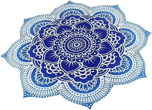 Internet Hippie Ronde Tapisserie Ronde Mandala Plage Serviette Yoga Mat Boh/ème Nappe Hot Pink, Mousseline de soie