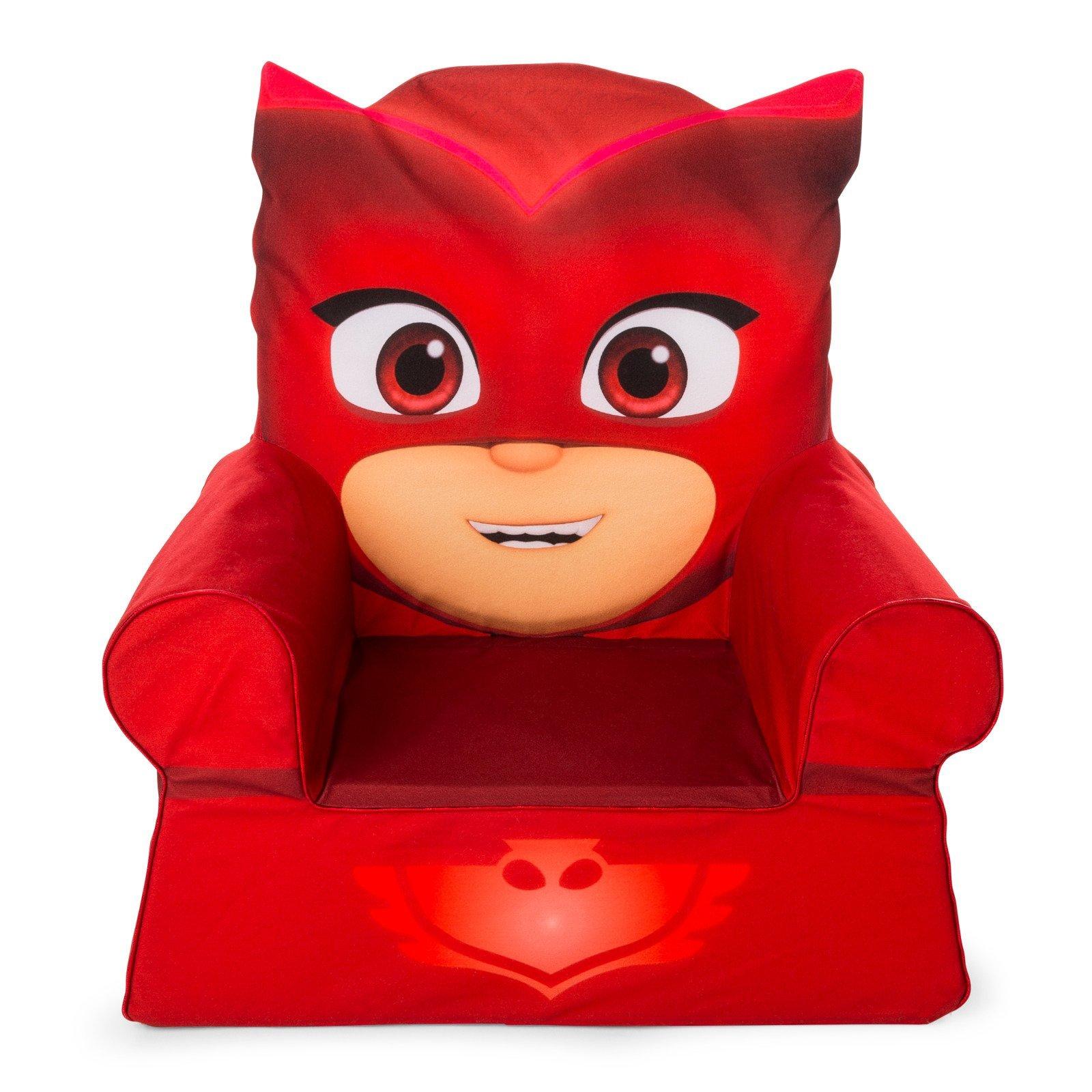 Marshmallow Furniture, Children's Foam Comfy Chair, PJ Masks Owlette Spin Master