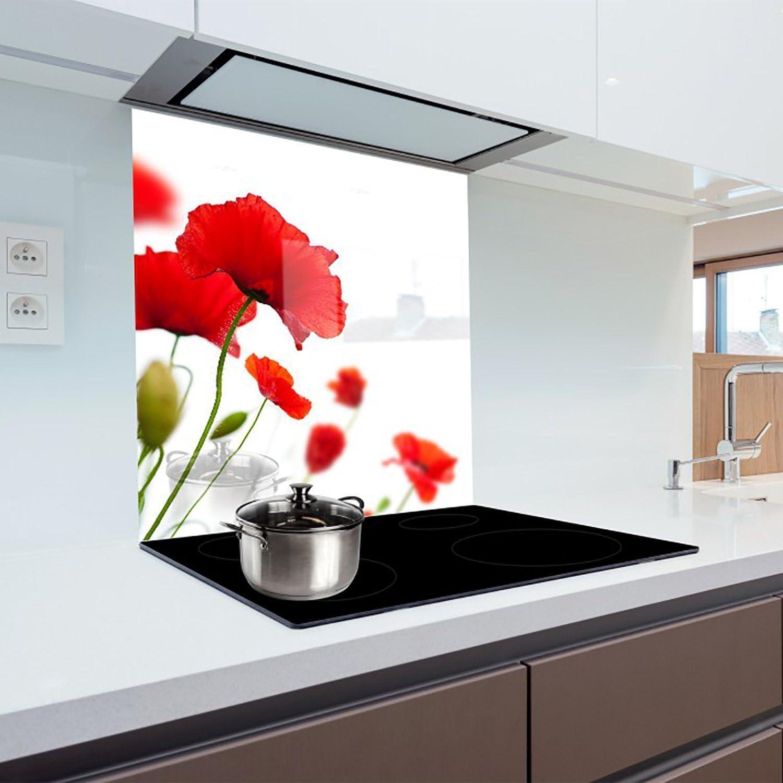 Compra HitGlass Cocina Cristal Splashback – Bañador con Cualquier Graphic 55 x 50 cm Resistente al Calor Vidrio endurecido en Amazon.es