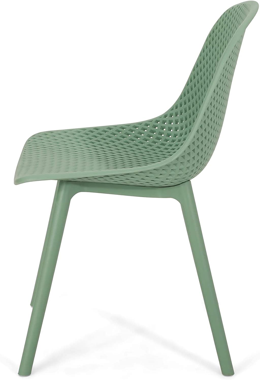 Green Set of 2 Christopher Knight Home 312460 Darleen Outdoor Dining Chair