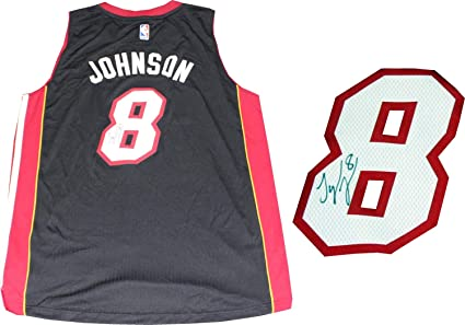 official photos 58696 77f56 Tyler Johnson Autographed Miami Heat Authentic Swingman ...