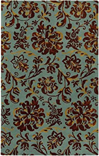 product image for Capel Monaco Seafoam Umber 7' x 9' Rectangle Hand Tufted Rug