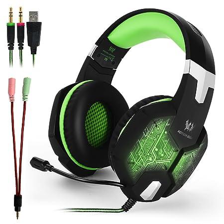 KOTION EACH G1000 Gaming Headset Kopfhörer Stereo Surround Über ohr Headset 3,5mm + USB Kopfhörer Mit Mic LED-Licht Für PC Ga