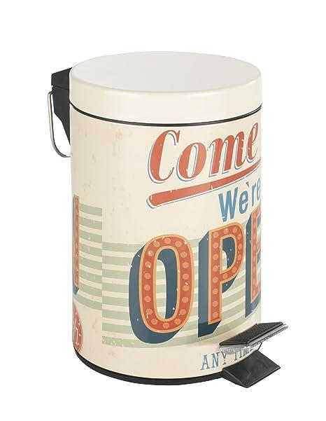 Poli/éster Wenko Vintage Open Alfombra Ba/ño 75x45x275 cm