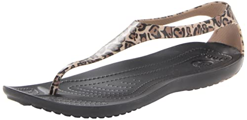 94df6dd46795 crocs Women s Sexi Wild Flip W Black and White Basic Flip-Flops and House  Slippers
