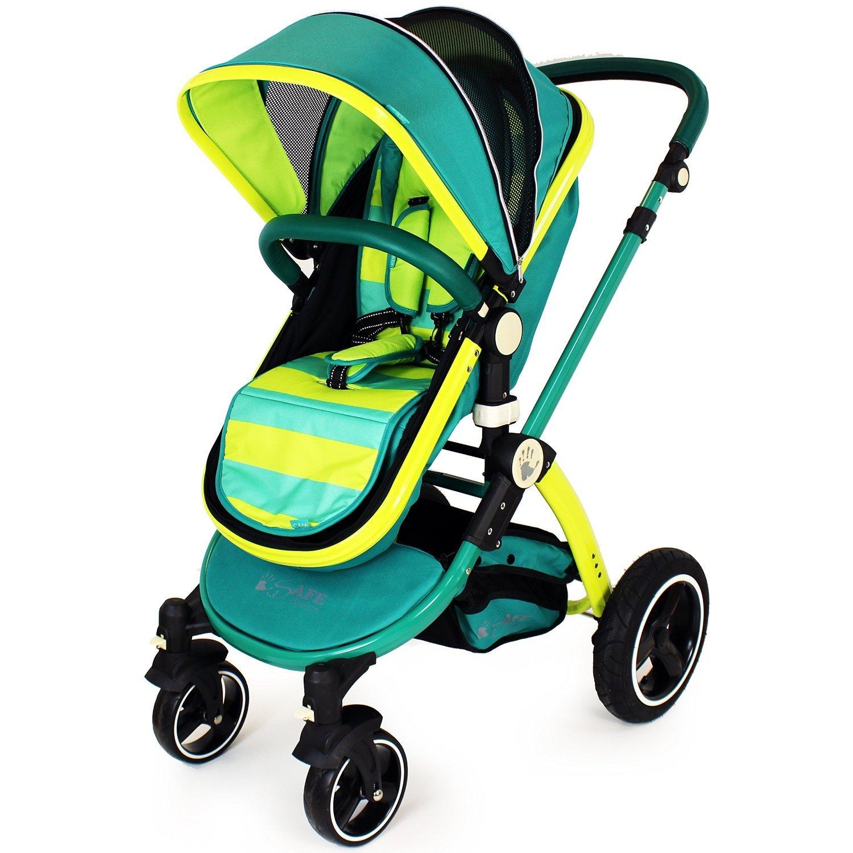 i-Safe - Lil amigo cochecito de bebé y silla de paseo 2 in1 completa ...