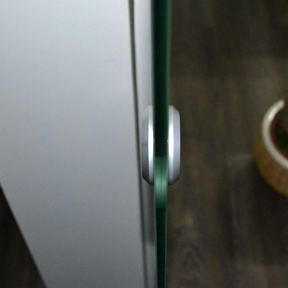 Verschiedene Gr/ö/ßen Glasschiebet/ür Ma/ße: 105 x 205 cm Streifendesign und Muschelgriff Home Deluxe