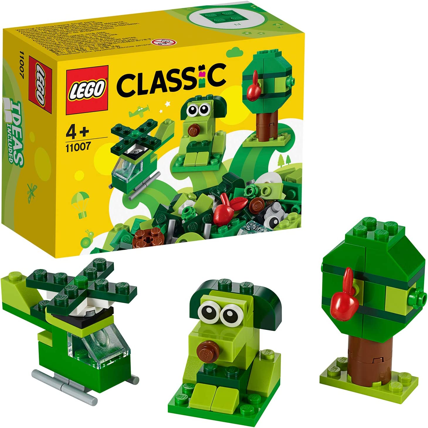 LEGO Classic - Ladrillos Creativos Verdes, Set de Construcción con Ladrillos de Colores de Juguete para Desarrollar la Imaginación (11007): Amazon.es: Juguetes y juegos