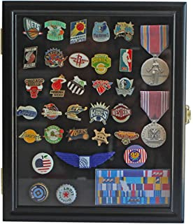 Display Case Cabinet Shadow Box For Military Medals, Pins, Patches,  Insignia, Ribbons
